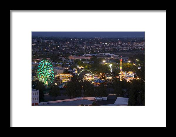 San Mateo County Fair Framed Print featuring the photograph Elevated View Of The 2011 San Mateo County Fair by Scott Lenhart