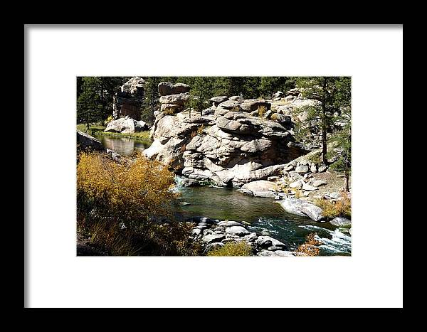 Colorado Framed Print featuring the photograph Eleven Mile Canyon - Mountain Stream by Marilyn Burton