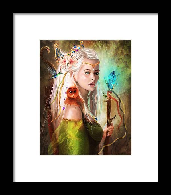 Portrait Framed Print featuring the digital art Elf by Anastasia Michaels