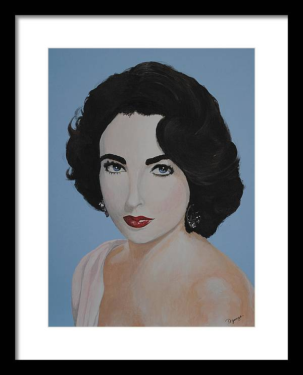Portrait Framed Print featuring the painting Elizabeth Taylor by Desmond George
