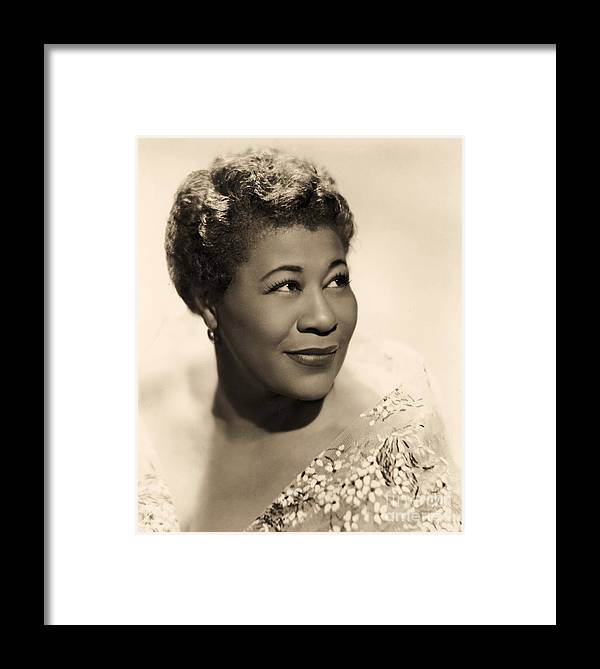 Pd Framed Print featuring the photograph Ella Fitzgerald by Pg Reproductions