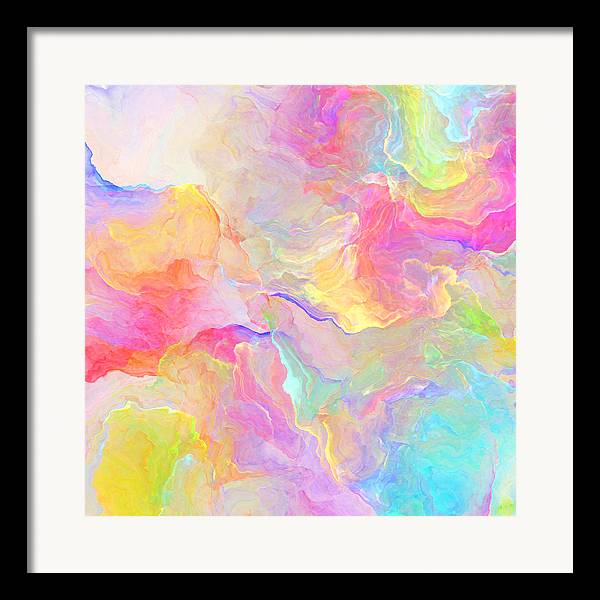Abstract Framed Print featuring the painting Eloquence - Abstract Art by Jaison Cianelli