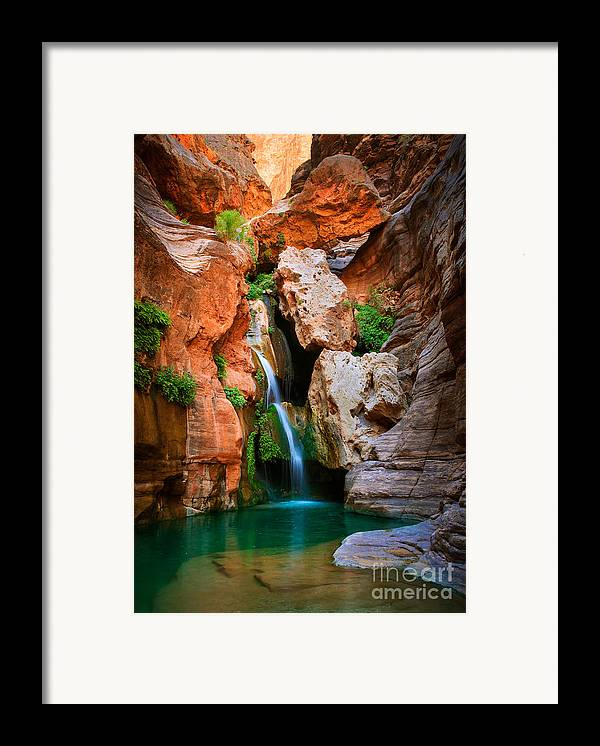 America Framed Print featuring the photograph Elves Chasm by Inge Johnsson
