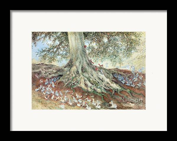History Framed Print featuring the photograph Elves In Rabbit Warren by Photo Researchers