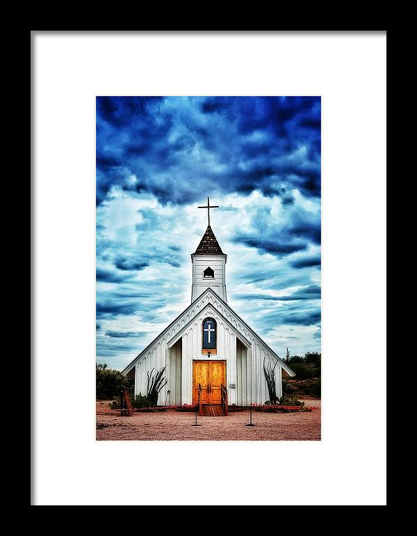 Cross Framed Print featuring the photograph Elvis Presley Memorial Chapel 2 by Debbie Yuhas