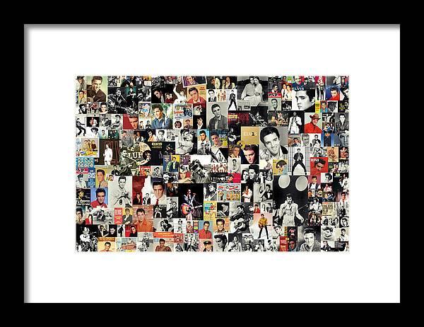 Elvis Presley Framed Print featuring the digital art Elvis The King by Zapista OU
