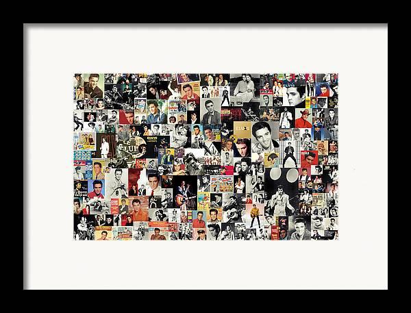 Elvis Presley Framed Print featuring the digital art Elvis The King by Taylan Apukovska