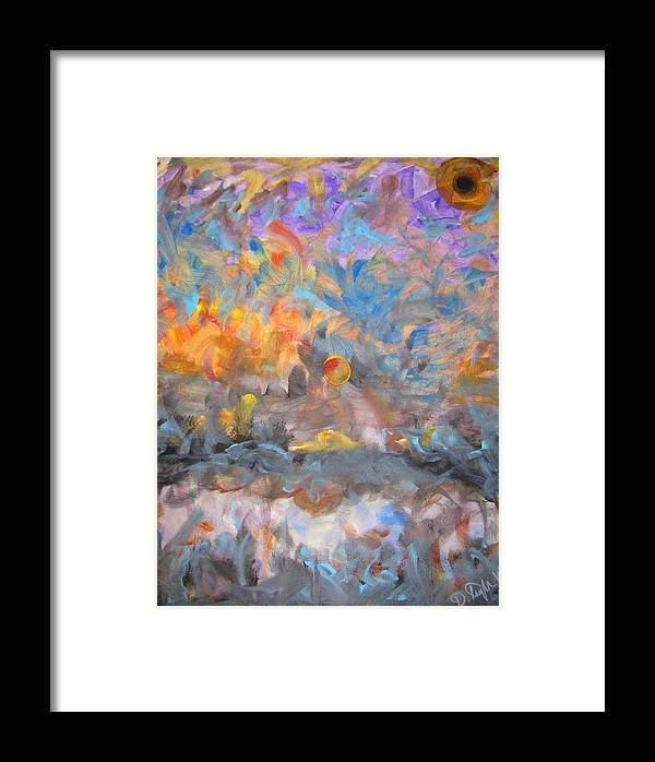 Heaven Framed Print featuring the painting Elysion Fields by Darryl Kravitz