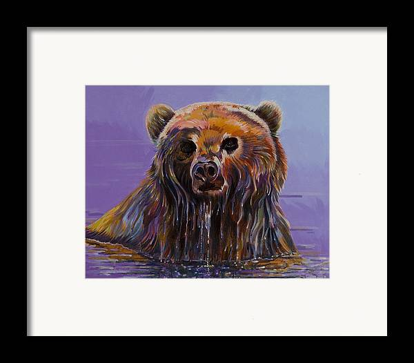 Wildlife Paintings Framed Print featuring the painting Embarrassed by Bob Coonts