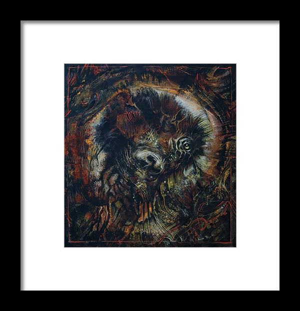 Embrio Framed Print featuring the painting Embrio by George Demchev