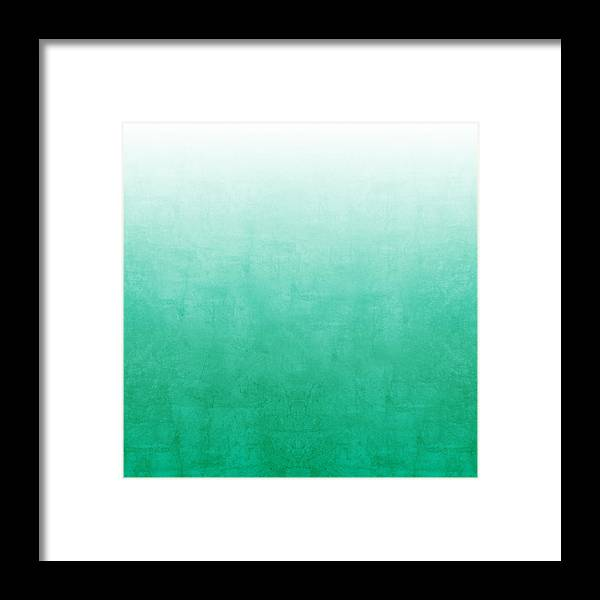 Abstract Framed Print featuring the mixed media Emerald Bay by Linda Woods