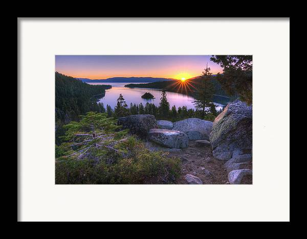 Framed Print featuring the photograph Emerald Bay by Sean Foster