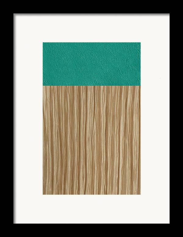 Silk Framed Print featuring the tapestry - textile Emerald Cashmere by Margaret Ivory
