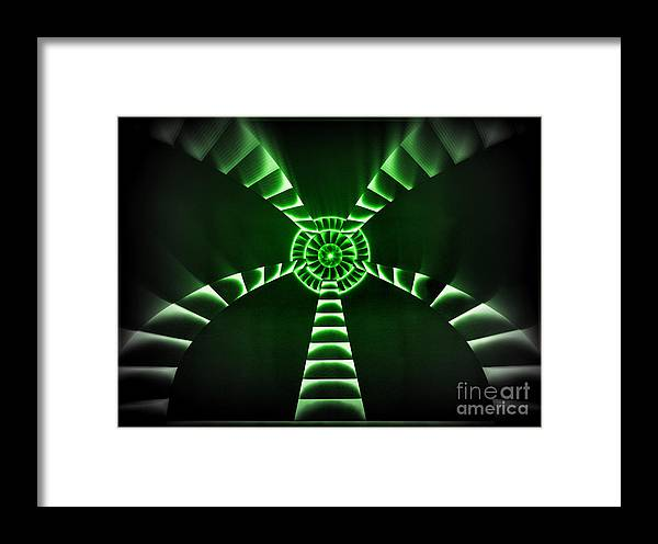 Destination Framed Print featuring the mixed media Emerald Destination by Kenneth Clarke