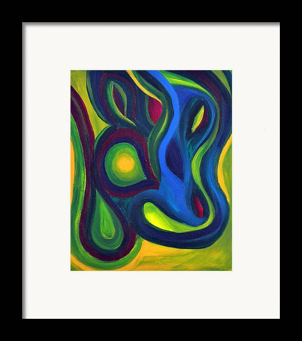 Daina White Framed Print featuring the painting Emerald Dreams by Daina White