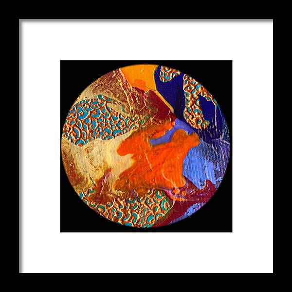 Abstract Framed Print featuring the painting Emergence #1228 by Dina Sierra