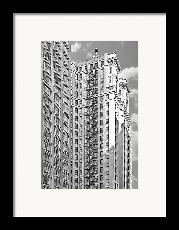 Chicago Framed Print featuring the photograph Emergency Exit Chicago Il by Christine Till