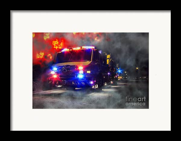Fire Framed Print featuring the photograph Emergency by Olivier Le Queinec