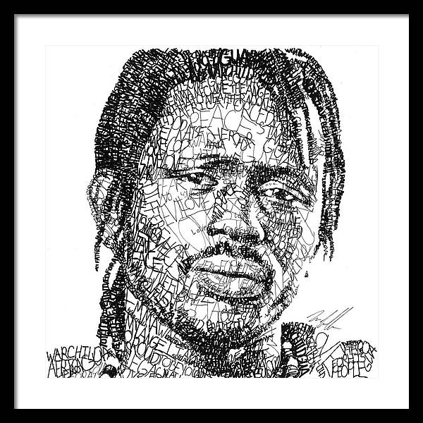 War Child Framed Print featuring the digital art Emmanuel Jal by Michael Volpicelli