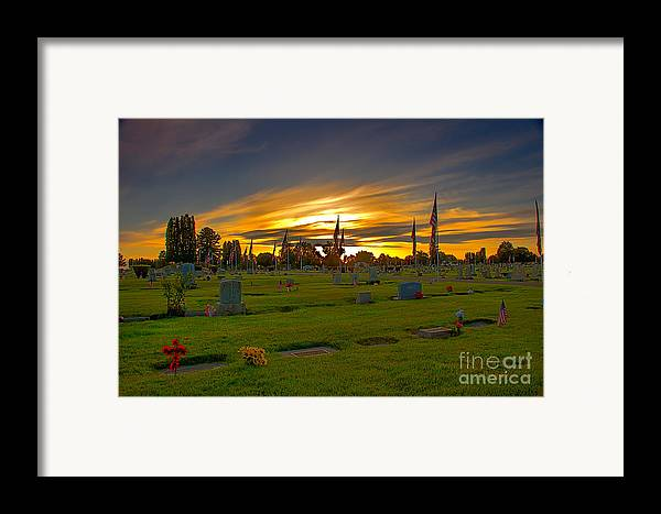 Gem County Framed Print featuring the photograph Emmett Cemetery by Robert Bales