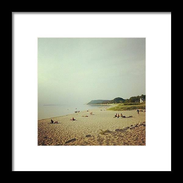 Michigan Framed Print featuring the photograph Empire Beach by Jill Tuinier