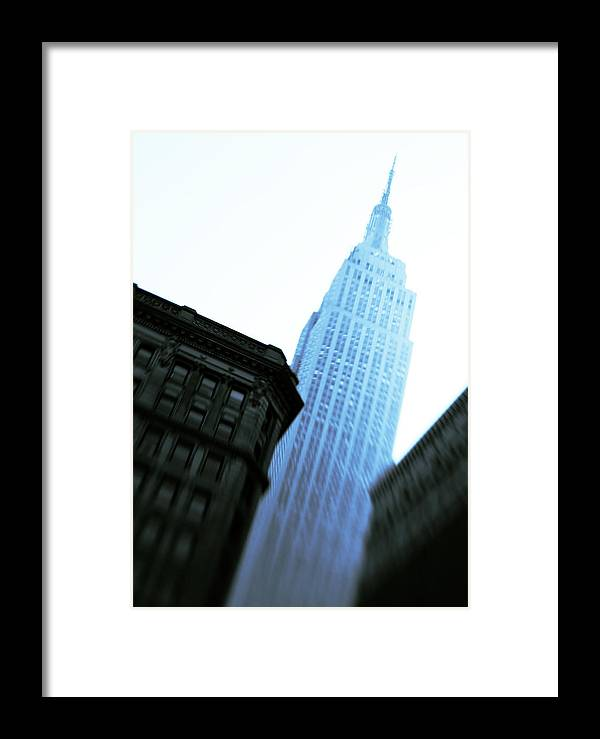 Empire State Building Framed Print featuring the photograph Empire State Building by Dave Bowman