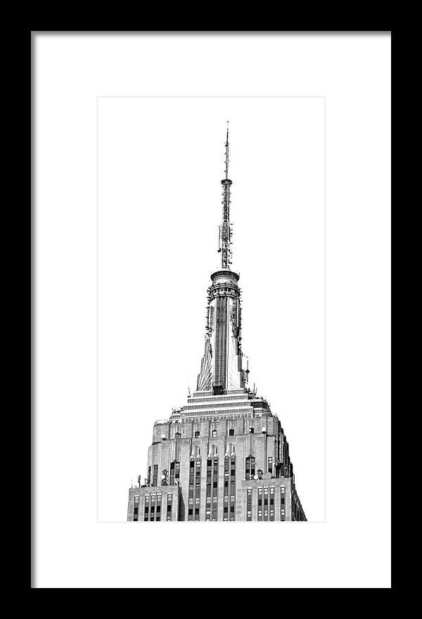 Empire Framed Print featuring the photograph Empire State Building by Todd Hartzo