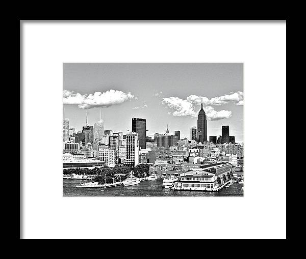 New York Framed Print featuring the photograph Empire State by Gary Ambessi