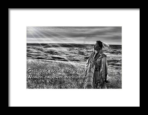 Native Framed Print featuring the photograph Empower by Chuck Butzin
