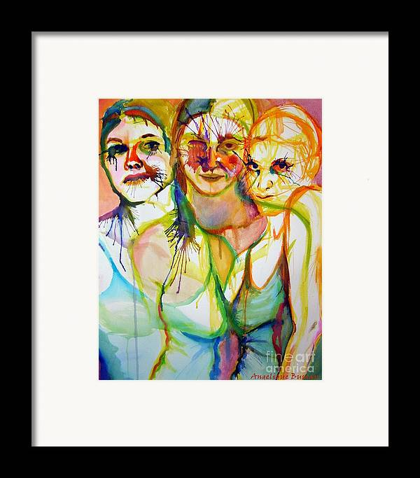 Women Framed Print featuring the painting Empowerment by Angelique Bowman