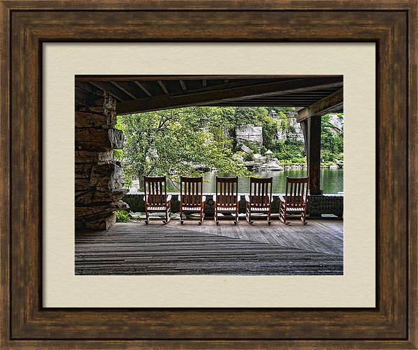 Empty Chairs - Mohonk Mt. House by Donna Lee Blais