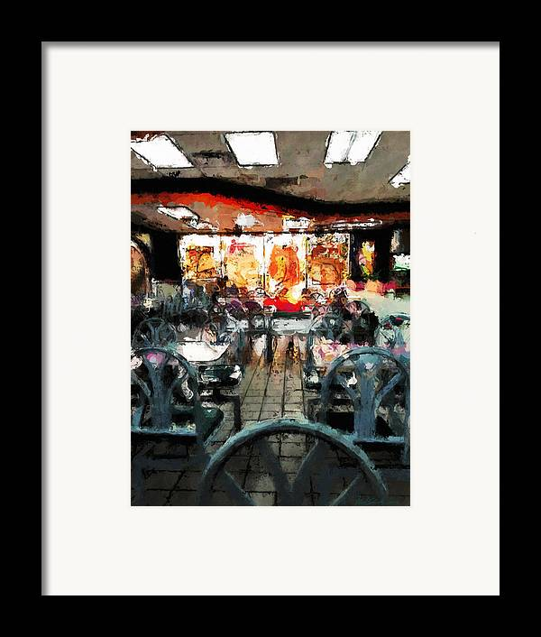 Restaurant Framed Print featuring the painting Empty Restaurant by Robert Smith