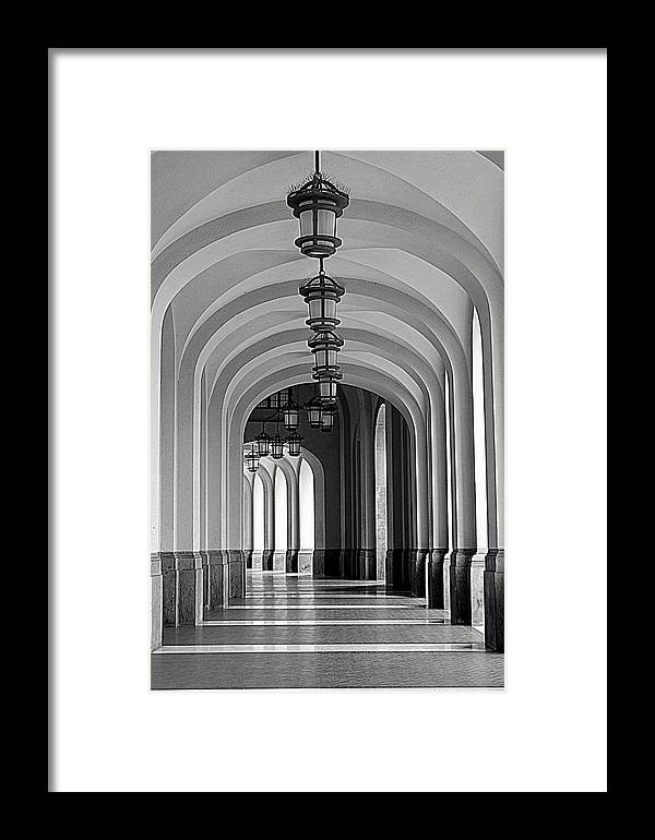 Arch Framed Print featuring the photograph Empty Road by Getty Contibu