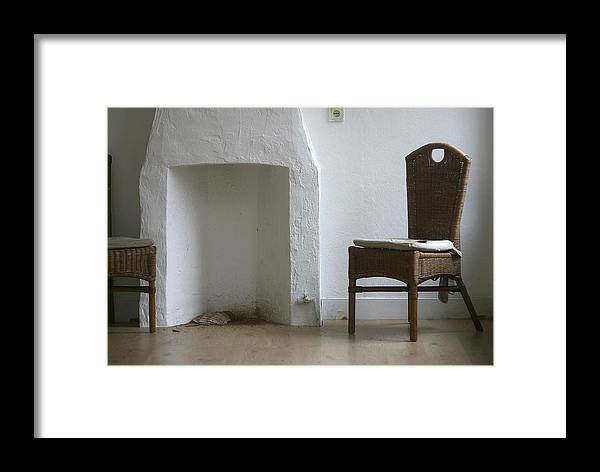 Room Framed Print featuring the photograph Empty Room With Two Chairs by Peter Zijlstra