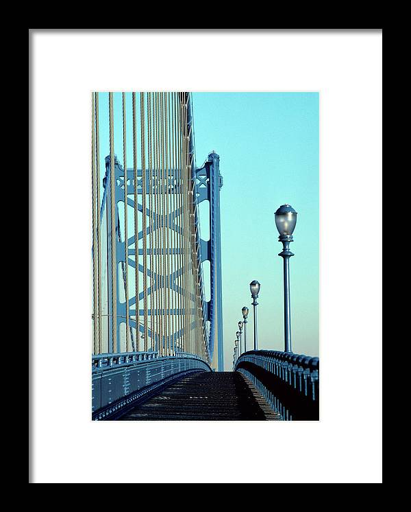 Photography Framed Print featuring the photograph Empty Walkway On Benjamin Franklin by Vintage Images