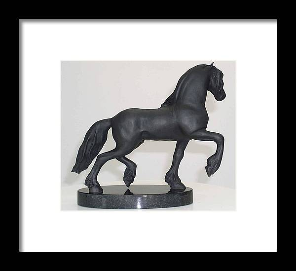 Horse Framed Print featuring the sculpture En Cours by Donna Mayo