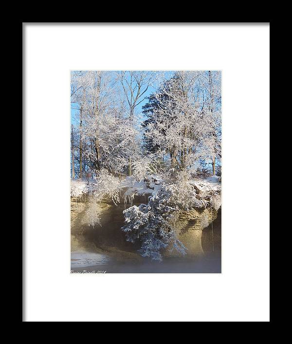 Seven Pillars Framed Print featuring the photograph Enchanted January Morning At The Pillars by Regine Brindle