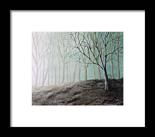 Misty Framed Print featuring the painting Enchanted by Julie Townsend