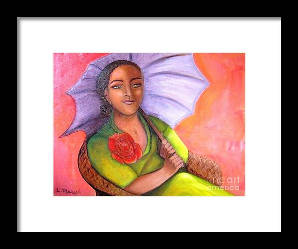 Rose Framed Print featuring the painting Enchanted Rose by Laurie Morgan
