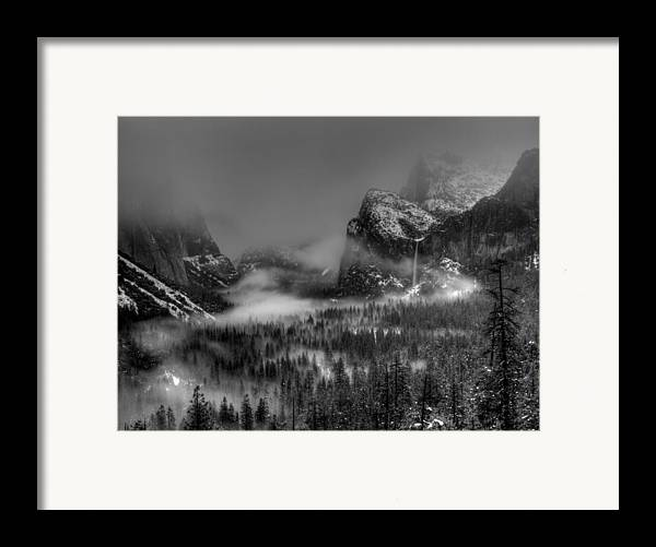Black And White Framed Print featuring the photograph Enchanted Valley In Black And White by Bill Gallagher