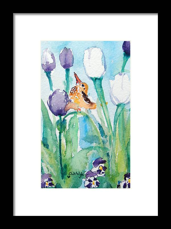 Flowers Framed Print featuring the painting Enchanted With Divine Love by Ashleigh Dyan Bayer