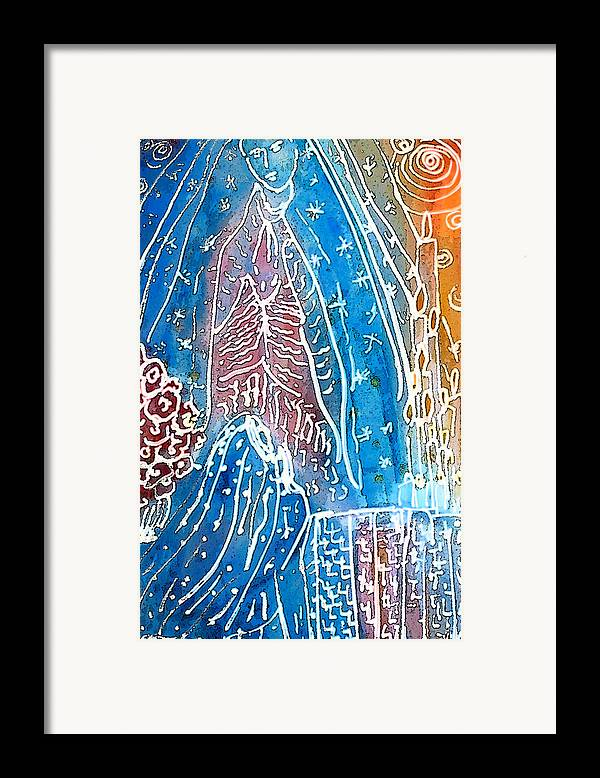 Virgin Of Guadalupe Framed Print featuring the painting Encounter by Tolere