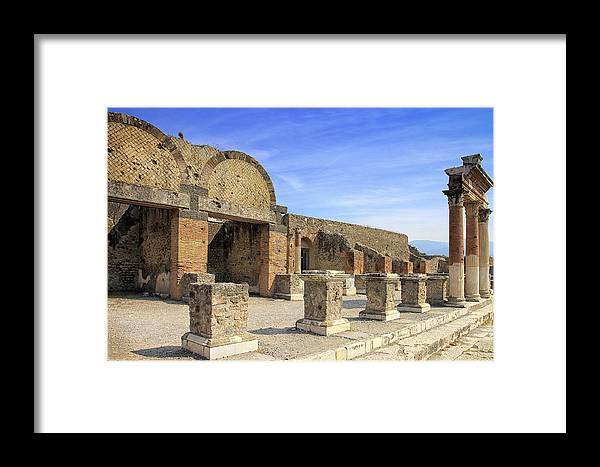 Pompeii Framed Print featuring the photograph End Of A City by Kim Andelkovic