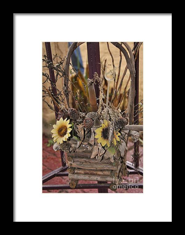 Dried Flowers Framed Print featuring the photograph End Of Life by Herman Cloete