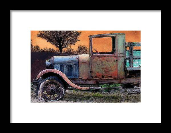 Trucks Framed Print featuring the photograph End Of The Day by William Griffin