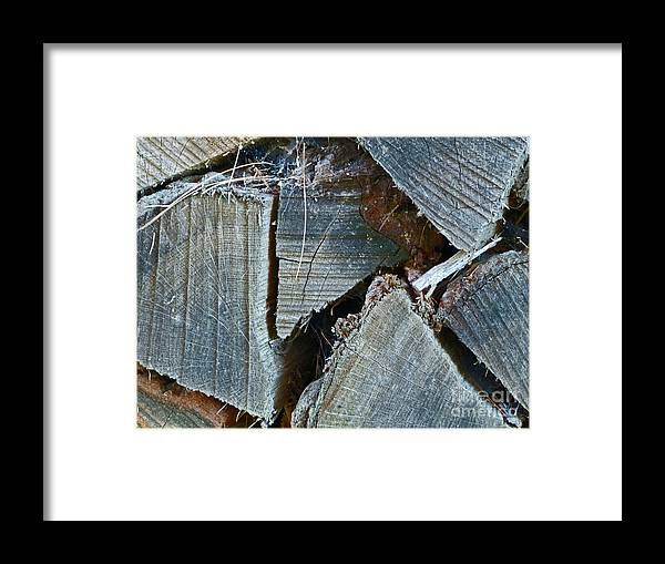 Texture Framed Print featuring the photograph Ends by Louise Peardon
