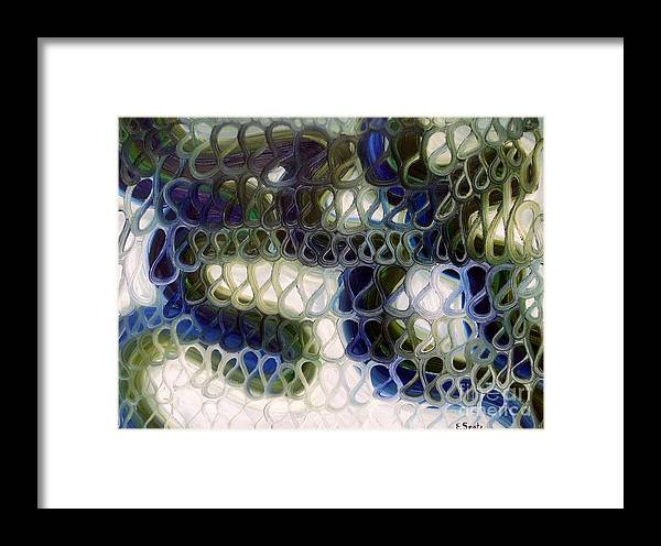 Oil Framed Print featuring the painting Energy One by Evelyn SPATZ