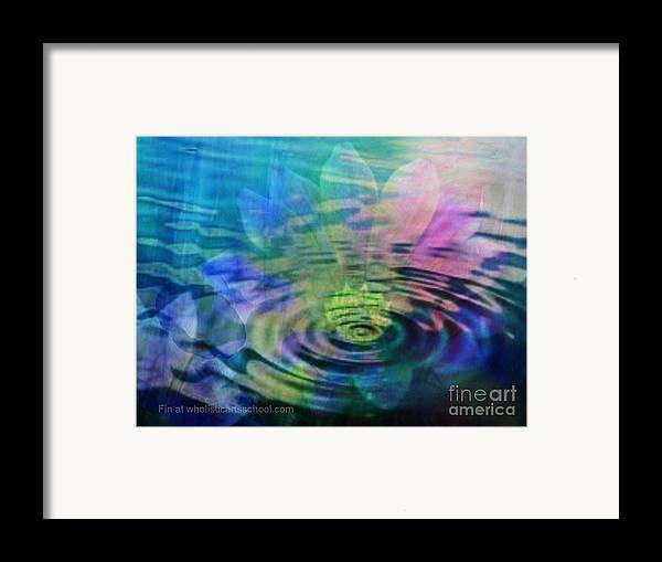 Ripple Framed Print featuring the painting Energy Ripples by PainterArtist FIN