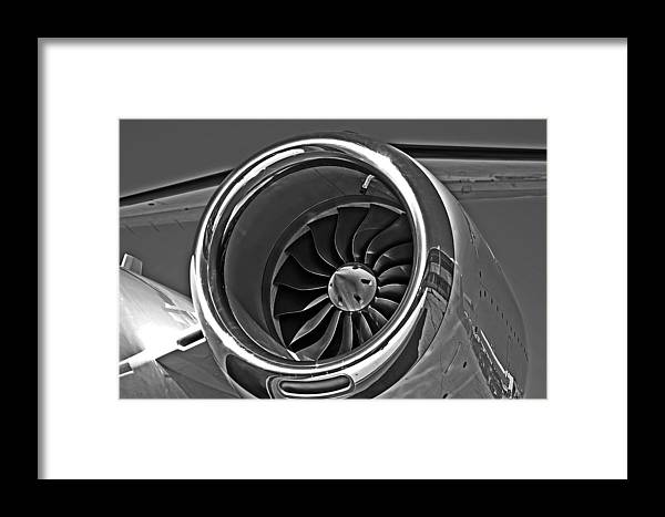 Cessna 525a Framed Print featuring the photograph Engine Citation Cj2 by Lamyl Hammoudi