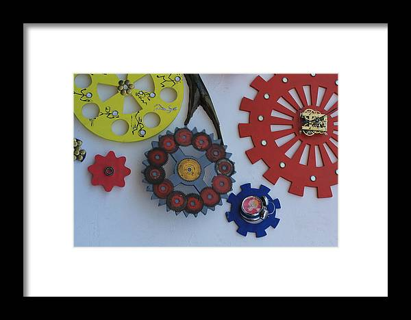 Wheels Framed Print featuring the photograph Engineering Wheels by Santosh Jaiswal